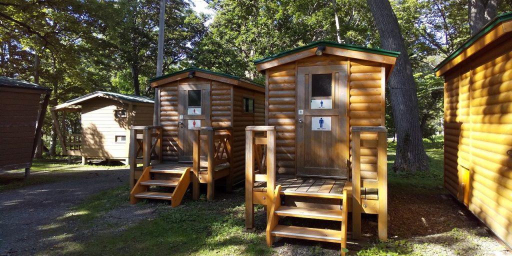 国設知床野営場のバイオトイレ