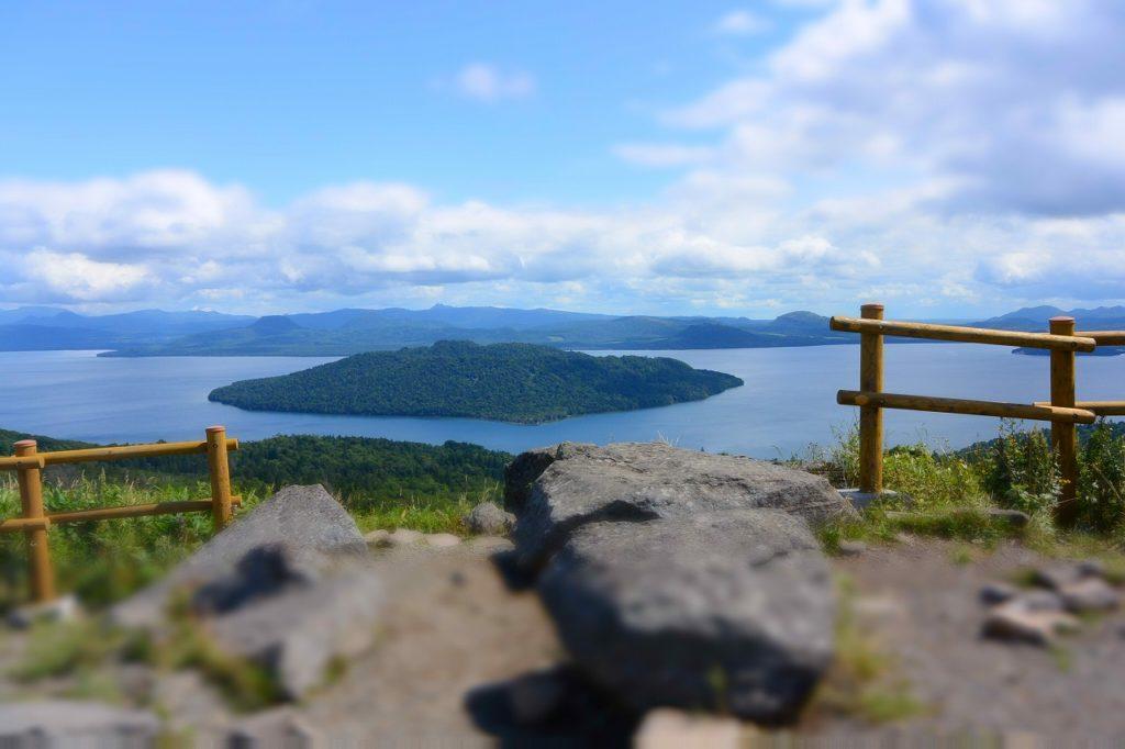 美幌峠の展望台からの眺め