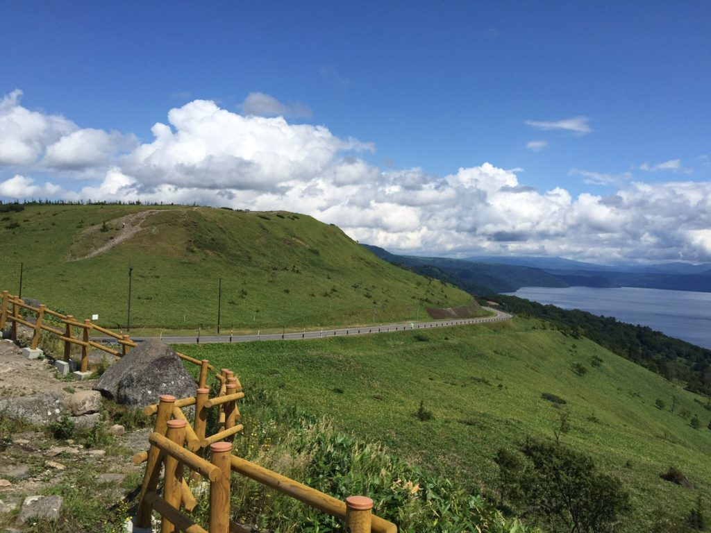 美幌峠から屈斜路を見下ろす眺め