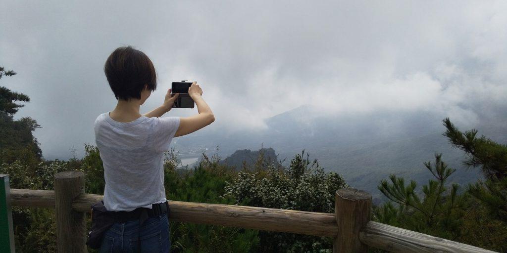 寒霞渓の展望台からの眺め