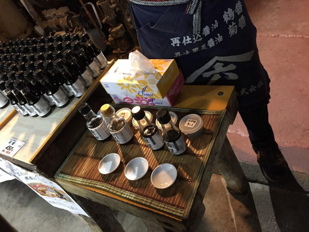 小豆島ヤマロク醤油の試飲